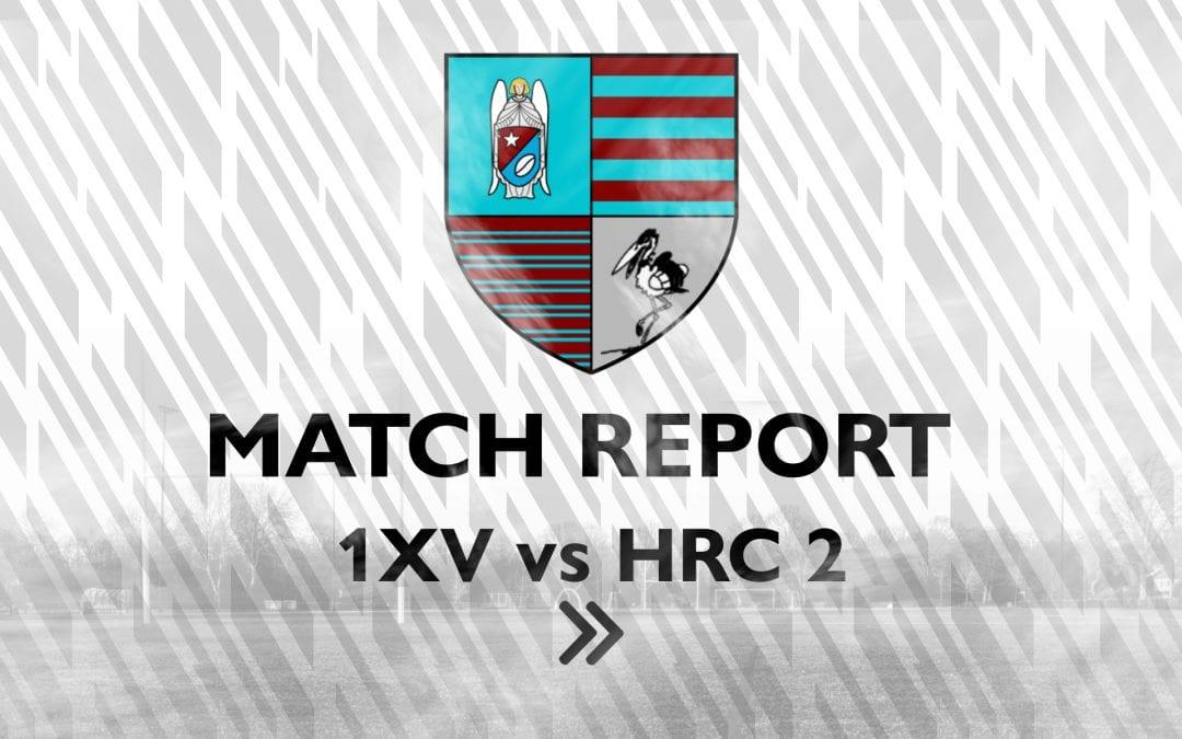 Match Report 1XV – Haagsche RC 2
