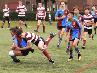 Maastricht Rugby U14 sluit seizoen op eigen bodem af met leuke pot tegen RC Eindhoven